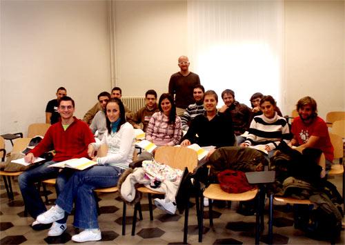 Il prof. Giacalone e la sua classe