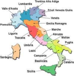 Cartina Muta Italia Regioni E Capoluoghi Da Stampare.Le Regioni D Italia Zanichelli Aula Di Lingue